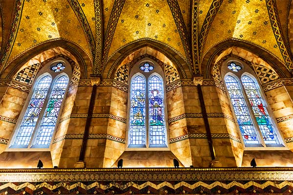 ornate stained glass windows