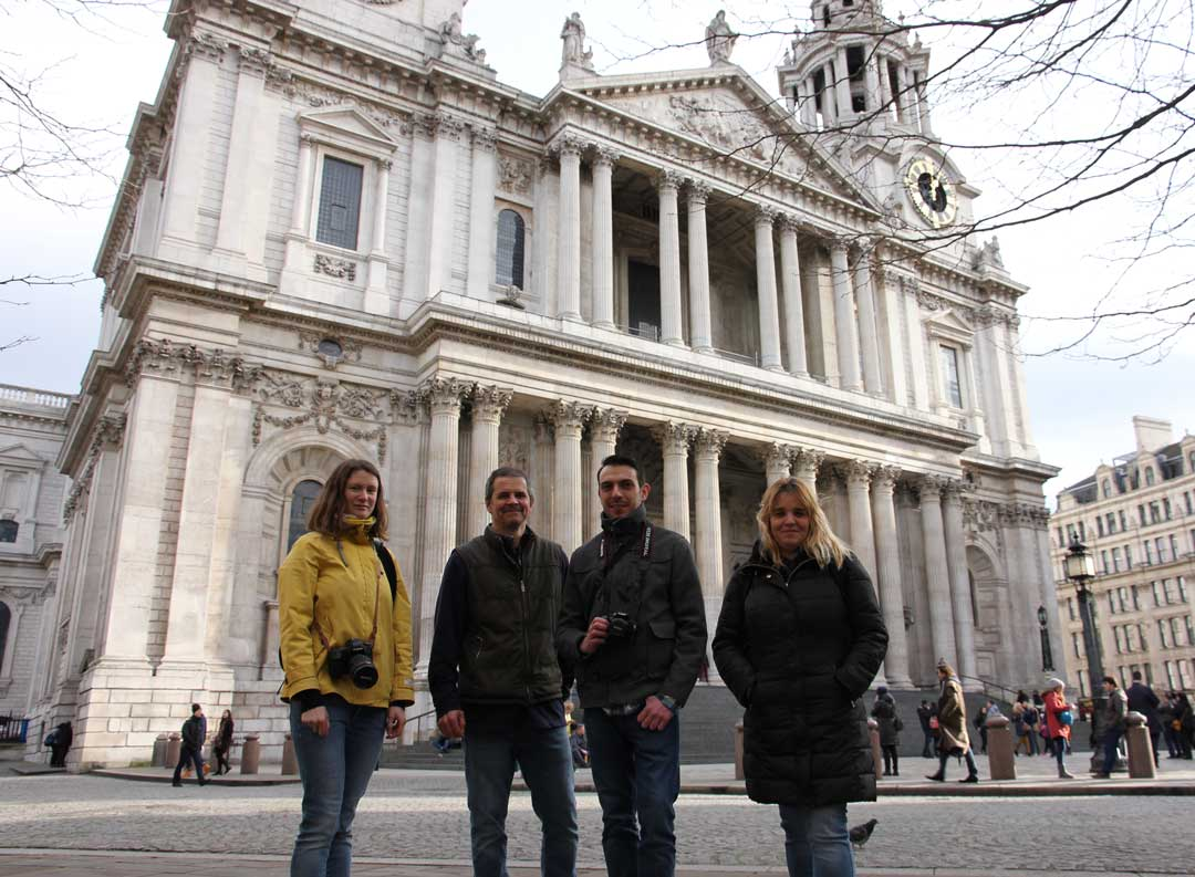 a group of photographers on a London Streets Photography tour